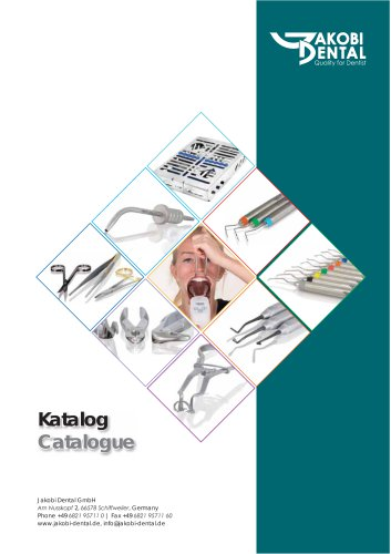 Product catalogue of Jakobi Dental GmbH