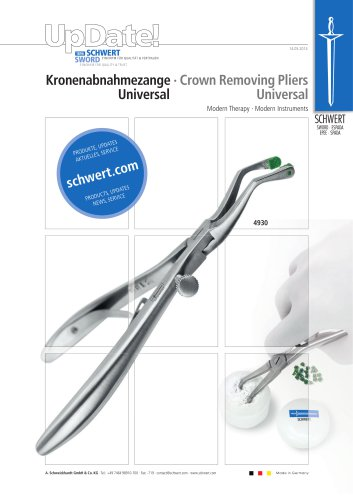 Crown Removal Pliers for temporary crowns and bridges