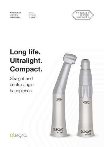 Alegra Straight and contra-angle handpieces WE-56