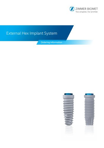 External Hex Implant System