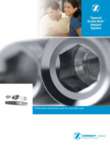 Tapered Screw-Vent ® Implant System