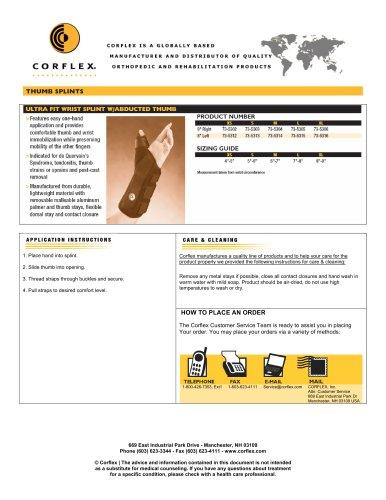Ultra Fit Wrist Splint w/Abducted Thumb