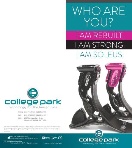 WHO ARE YOU? I AM REBUILT. I AM STRONG. I AM SOLEUS