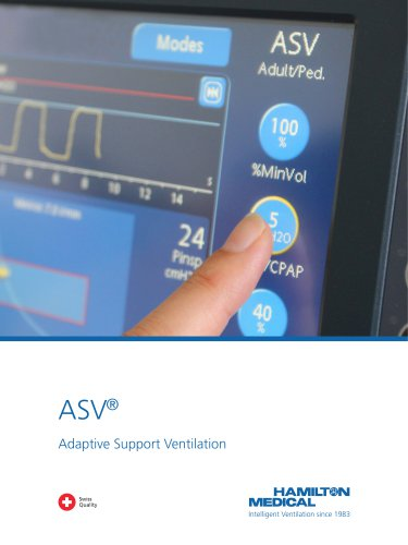 ASV Adaptive Support Ventilation brochure