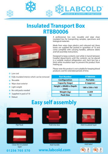 Labcold Insulated Transport Box