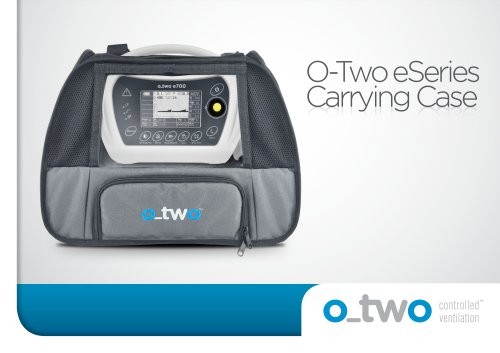 O-Two eSeries Carr Carrying Case