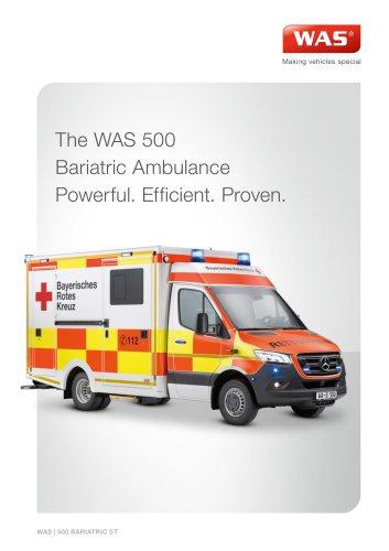 WAS 500 Bariatric Ambulance Mercedes-Benz Sprinter Box Body 5 T