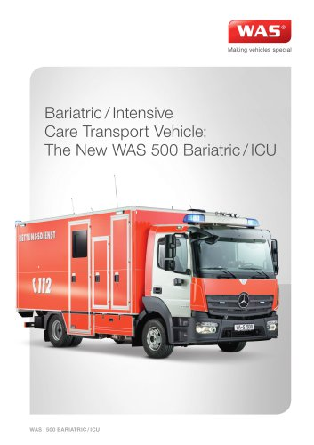 WAS 500 Bariatric / Intensive Care Transport Ambulance Mercedes-Benz Atego Box Body 10.5 T