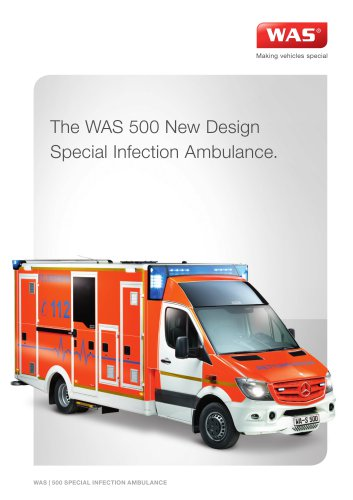 WAS 500 Special Infection Ambulance Mercedes-Benz Sprinter Box Body 5 T
