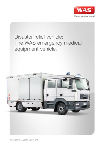 WAS 900 Disaster Relief Vehicle Emergency Medical Equipment Vehicle MAN TGL Box Body 10 T