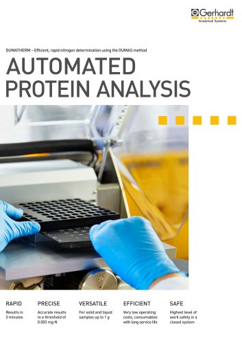 Automated protein analysis