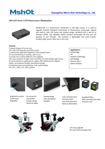 MI-LED fluorescence microscope illuminator
