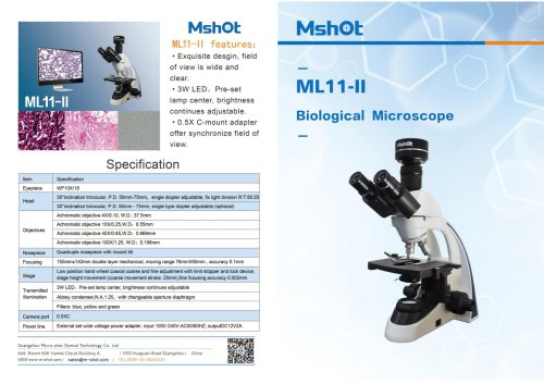ML11-Ⅱ biological microscope