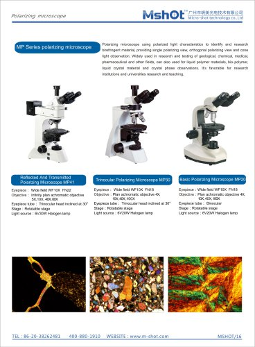 Polarizing Microscopes