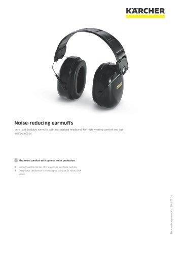 Noise-reducing earmuffs