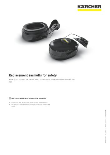 Replacement earmuffs for safety helmet