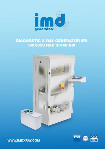 DIAGNOSTIC X-RAY GENERATOR MX 600/350 RAD 30/40 KW