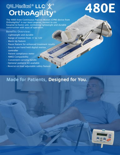 OrthoAgility 480E Knee CPM Specification Brochure