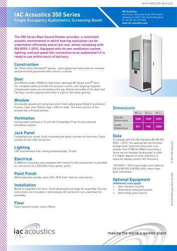 IAC Acoustics 350 Series Single Occupancy Audiometric Screening Booth